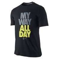 "Nike ""My Way All Day"" Boys' T-Shirt - Black"