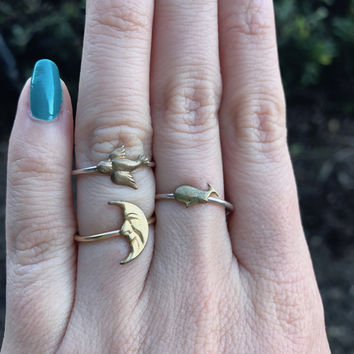 Brass Charm Rings - Ready to Ship