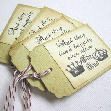 Happily Ever After Fairytale Wedding Favor or Escort Tags