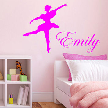 kik2219 Wall Decal Sticker for the name girl ballerina children's bedroom