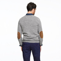 Slim slub merino V-neck sweater
