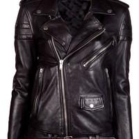 Blk Dnm Masculine Motorcycle Jacket
