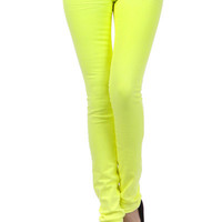 Neon Yellow Skinny Jeans