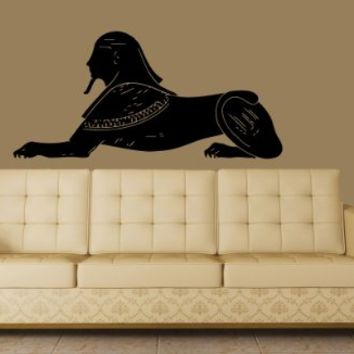 Housewares Vinyl Decal Egyptian Sphinx Egypt Great Sphinx of Giza Beauty Salon Home Wall Art Decor Removable Stylish Sticker Mural Unique Design for Any Room