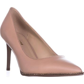 Coach Vonna Pointed Toe Stud Lined Pumps, Beechwood, 8 US