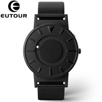 Eutour Watch Men Luxury Top Brand Concise Innovate Wristwatches Fashion Casual Sport Magnetic Stainless Steel Swiss Quartz Watch