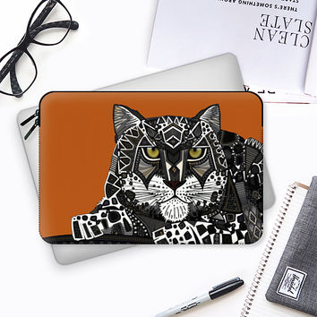 snow leopard orange Macbook Pro 13 sleeve by Sharon Turner | Casetify
