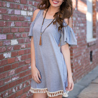 Dwelling On Dreams Tunic, Heather Gray