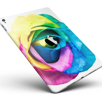 """Rainbow Dyed Rose V1 Full Body Skin for the iPad Pro (12.9"""" or 9.7"""" available)"""