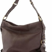 Leather whipstitch hobo
