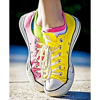 Adult Converse All Star Low-Top Sneakers Fresh yellow pink