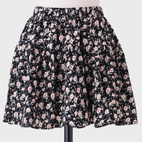 Lean In Floral Skirt