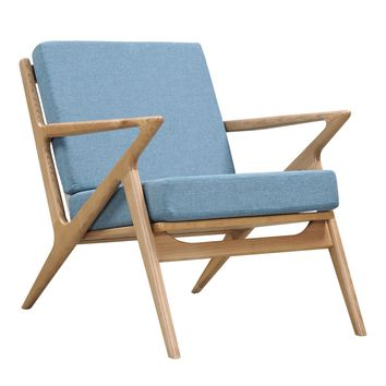 Jet Accent Chair BABY BLUE - NATURAL