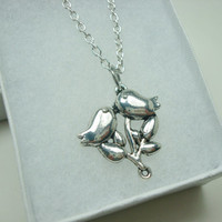 Silver Bird Necklace, 16 inch