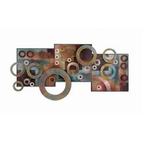 Deco 79 Metal Wood Wall Decor, 36 by 17""