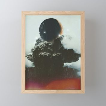 Final Eclipse Framed Mini Art Print by duckyb