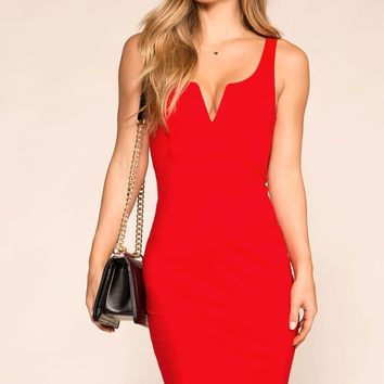 Lovely Rita Red Bodycon Dress