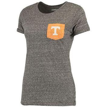 Tennessee Volunteers Women's Bandy Pocket T-Shirt - Heathered Gray