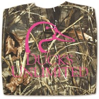 Ducks Unlimited Long Sleeve Max 4 Camo® Logo Tee 50-442J - Ladies