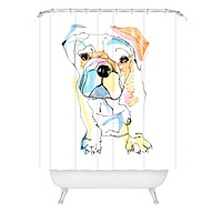 Casey Rogers Bulldog Color Shower Curtain