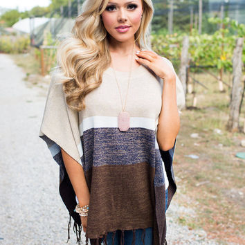 Move On Poncho Brown/Tan