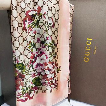 GUCCI Tide brand thin section velvet women's shawl scarf