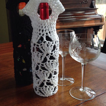 Crochet Wine Gift Bag / Tote