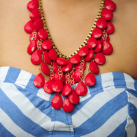Roses Are Red Necklace: Gold | Hope's