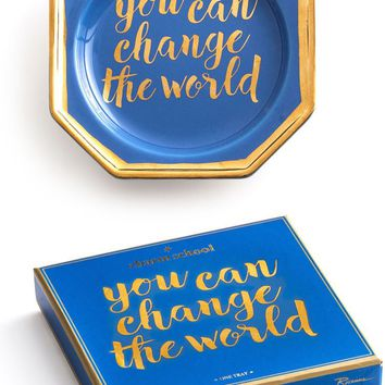 You Can Change The World Trinket Tray