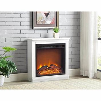 Ameriwood Home Bruxton Electric Fireplace | Overstock.com Shopping - The Best Deals on Indoor Fireplaces