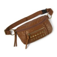Faux Leather Studded Fanny Pack  | Claire's
