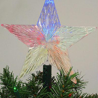 Christmas Tree Topper - Led Light-up Color Changing Star