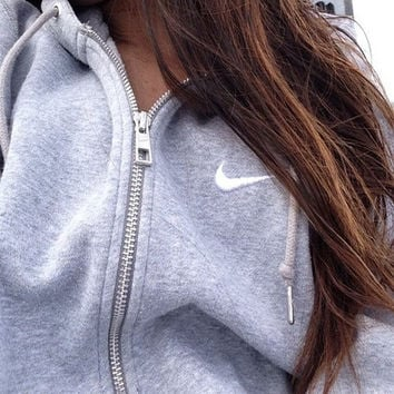 """Nike"" Women Fashion Cardigan Jacket Coat Sweatshirt"