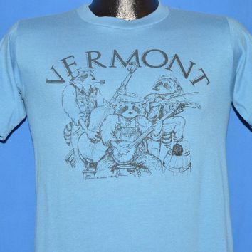 80s Vermont Raccoon Jug Band t-shirt Small