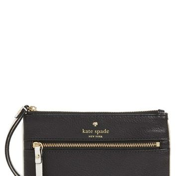 kate spade new york 'cobble hill - slim bee' pebbled leather wristlet   Nordstrom