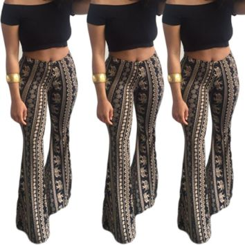 2018 Women Fashion High Waist Pants