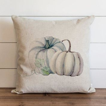 Fall Pillow Cover // Watercolor Pumpkins