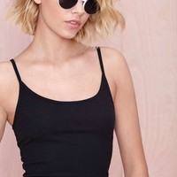 Nasty Gal Check Your Vitals Tank - Black