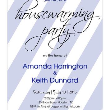 10% off Printable Housewarming Invitation, Housewarming Party Invitation, House Warming Party Invitation, Weve Moved Cards, Housewarming Inv