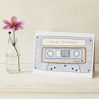 Play List Cassette Greeting Card
