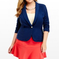 Plus Size Push My Button Ruched Jacket | Fashion To Figure