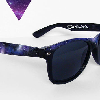 Sunglasses - Space Galaxy Nebula Custom Wayfarer style sunglasses '80s retro hand painted