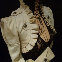 PIRATE STEAMPUNK  SHORT JACKET by blackmirrordesign on Etsy