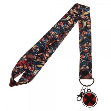 X-Men Wide Lanyard with Metal Charm