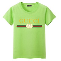 GUCCI Fashion Short Sleeve For Women (The size runs smaller a little) ten color