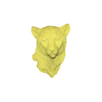 The Chester | Cheetah Leopard Head | Faux Taxidermy | Yellow Resin