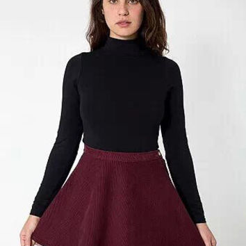 High-Waisted A-Line Corduroy Mini Skirt