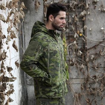 New Multicam Camo Tactical Hunting Hoody Jacket CP Ripstop Field Hunting Jakcet CP for Outdoor Hunting Jacket with Hoody