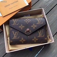 LV Louis Vuitton Women Shopping Leather Handbag Tote Wallet Purse