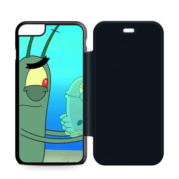 Plankton Spongebob Squarpants Leather Wallet Flip Case iPhone 6 Plus | 6S Plus